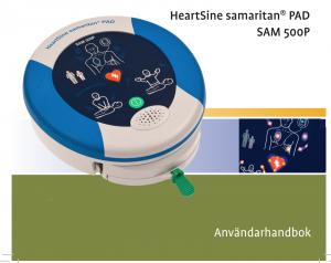 Användarhandbok hjärtstartare